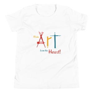 Organic Kids T Shirt Make Art From the Heart