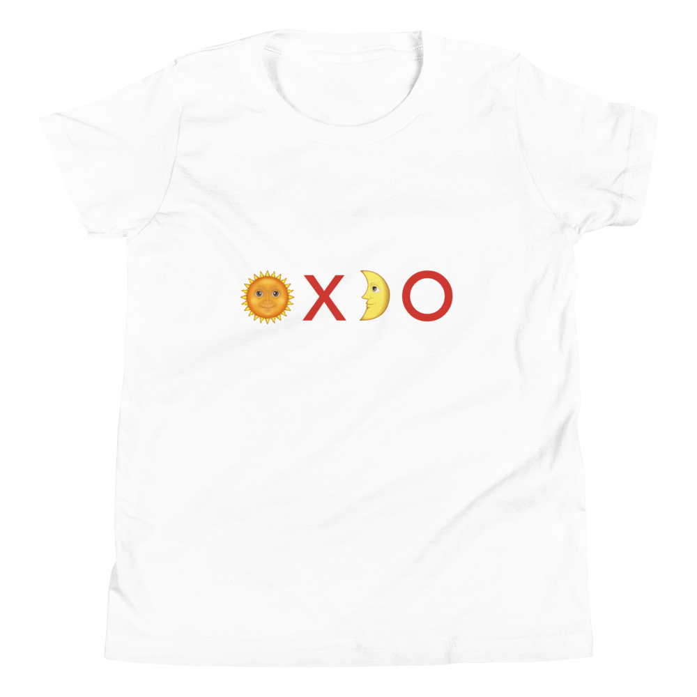 Organic Kids T Shirt Sun Kisses Emoji
