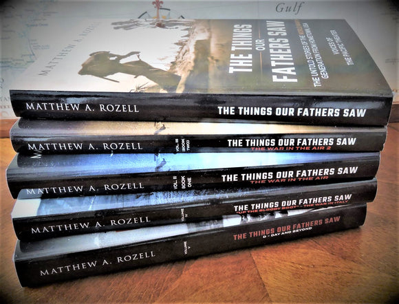 BOOK BUNDLE: Volumes 1-5, The Things Our Fathers Saw® Series books w/ Collector's Bookmark