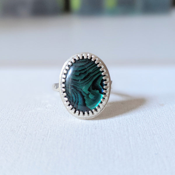 """Angelique"" Paua shell ring"