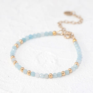 """Alice"" dainty beaded bracelet"