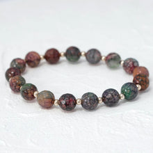 "Load image into Gallery viewer, ""Gemma"" semi-precious gemstone bracelet in agate"