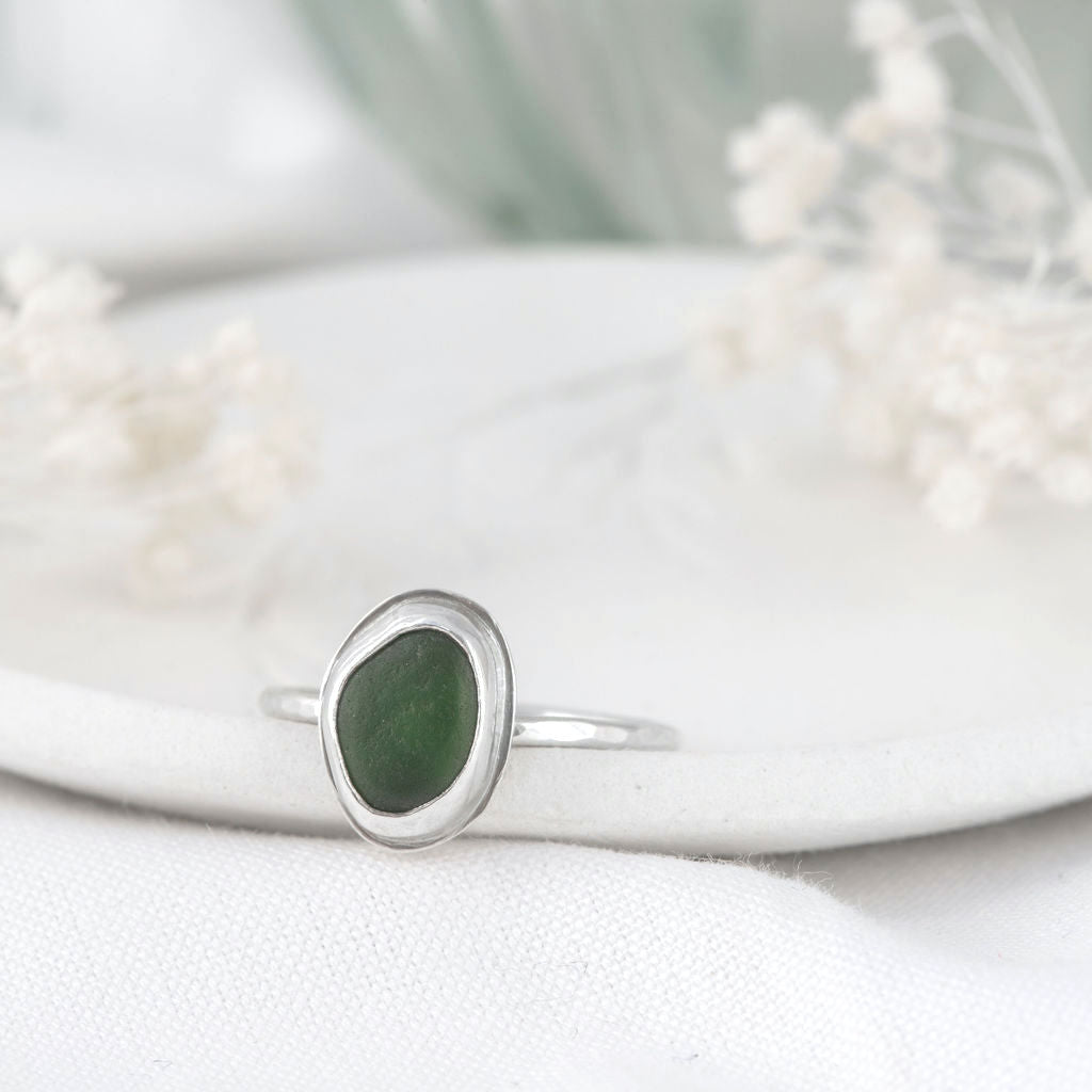 """""""Kate"""" sea glass ring"""