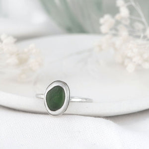"""Kate"" sea glass ring"