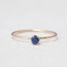"Load image into Gallery viewer, ""Aster"" dainty birthstone ring in London blue topaz"