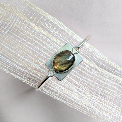 Elissa labradorite bangle top view