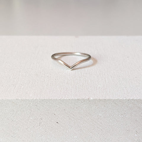"""Emily"" Wishbone ring"