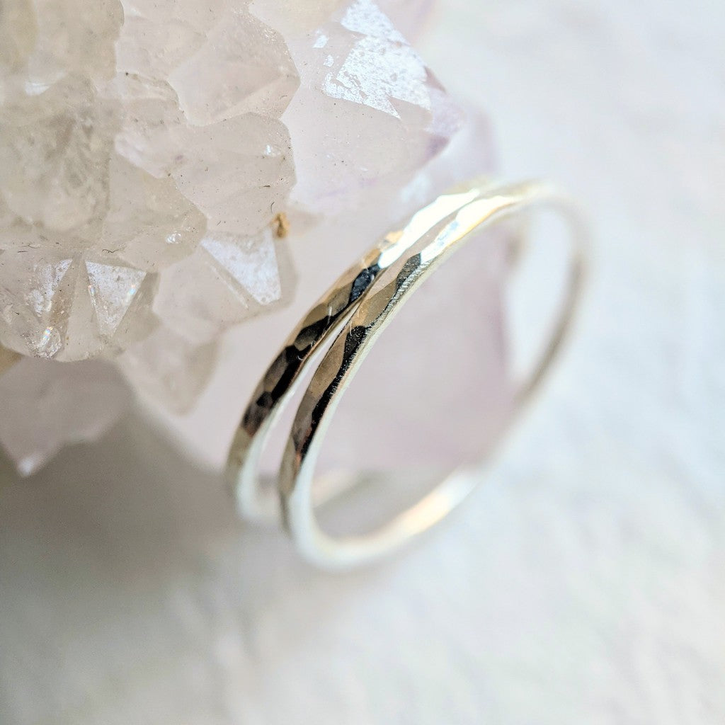 """""""Kelly"""" sterling silver stacking rings"""