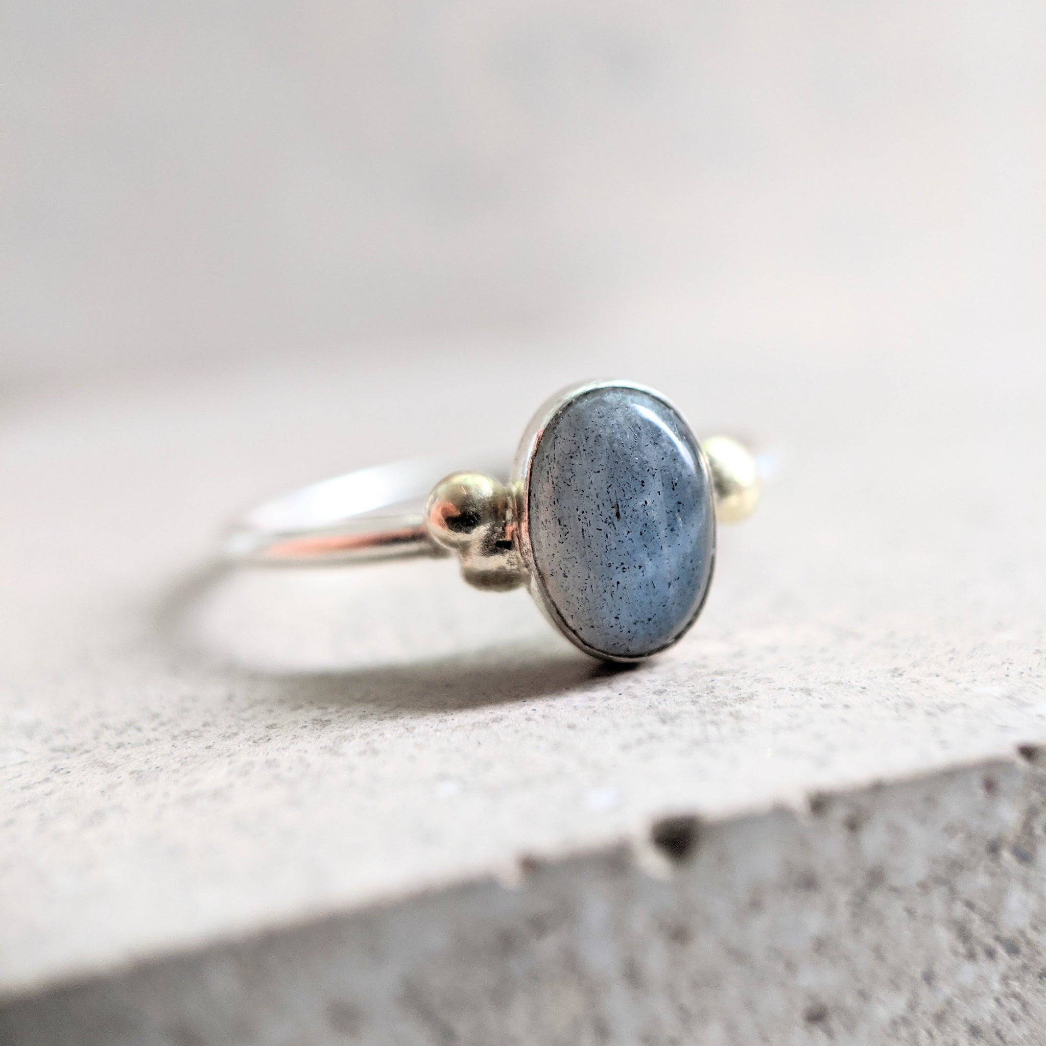 Michelle labradorite ring oval 3/4 shot