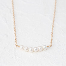 "Load image into Gallery viewer, ""Abigail"" pearl bar necklace"