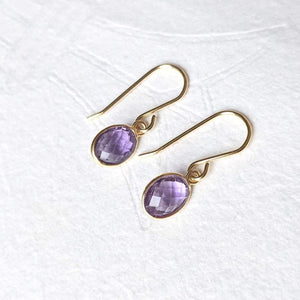 """Nerissa"" gemstone drop earrings"
