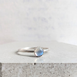 """Angharad"" moonstone ring"