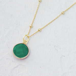 """Gabriela"" gemstone pendant in gold vermeil"