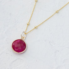 "Load image into Gallery viewer, ""Gabriela"" gemstone pendant in gold vermeil"