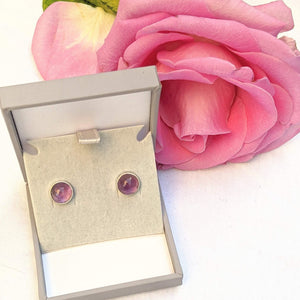 """Bella"" Amethyst stud earrings"