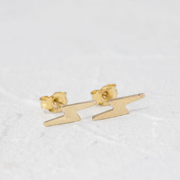 """June"" lightning bolt earrings"