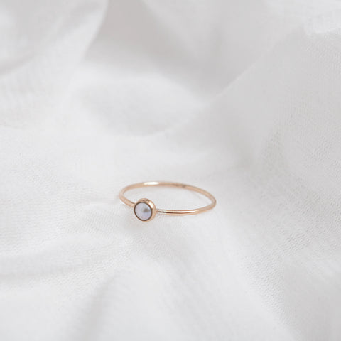 """Margot"" petite pearl ring"