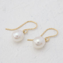 "Load image into Gallery viewer, ""Melanie"" pearl drop earrings"