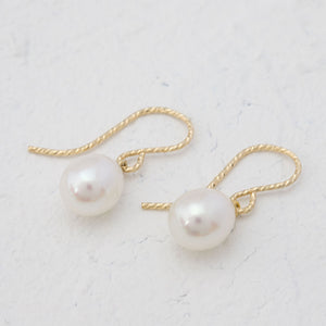 """Melanie"" Pearl drop earrings"
