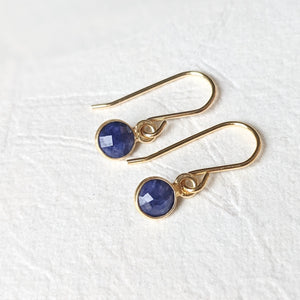 """Rosa"" petite gemstone drop earrings in gold vermeil"