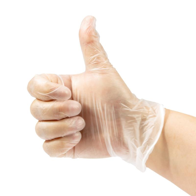 Disposable Vinyl Gloves- Box of 100 Pcs