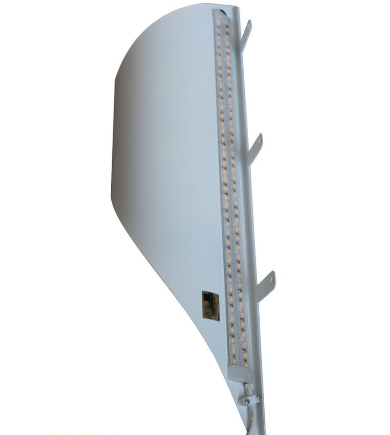 "Big Reveal LED Corner Light 18"" White Curved Metal"