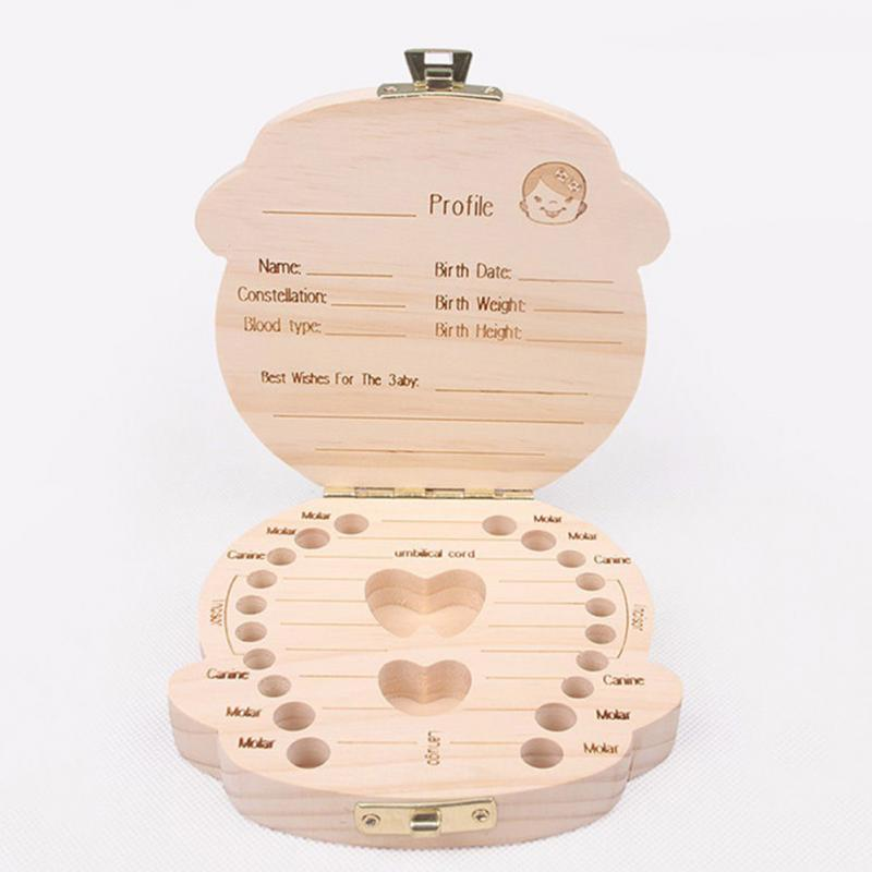 baby's first tooth wooden box