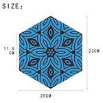 Moroccan Style Blue Pattern Wall Sticker Adhesive home improvement, home decor