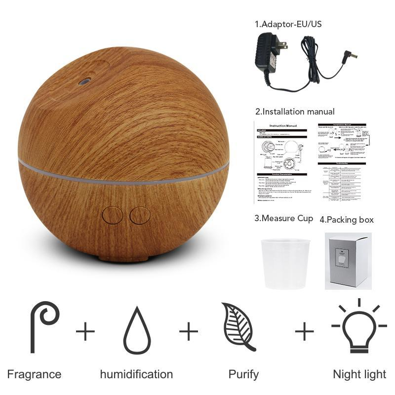 Wooden Design Cool Mist Humidifier