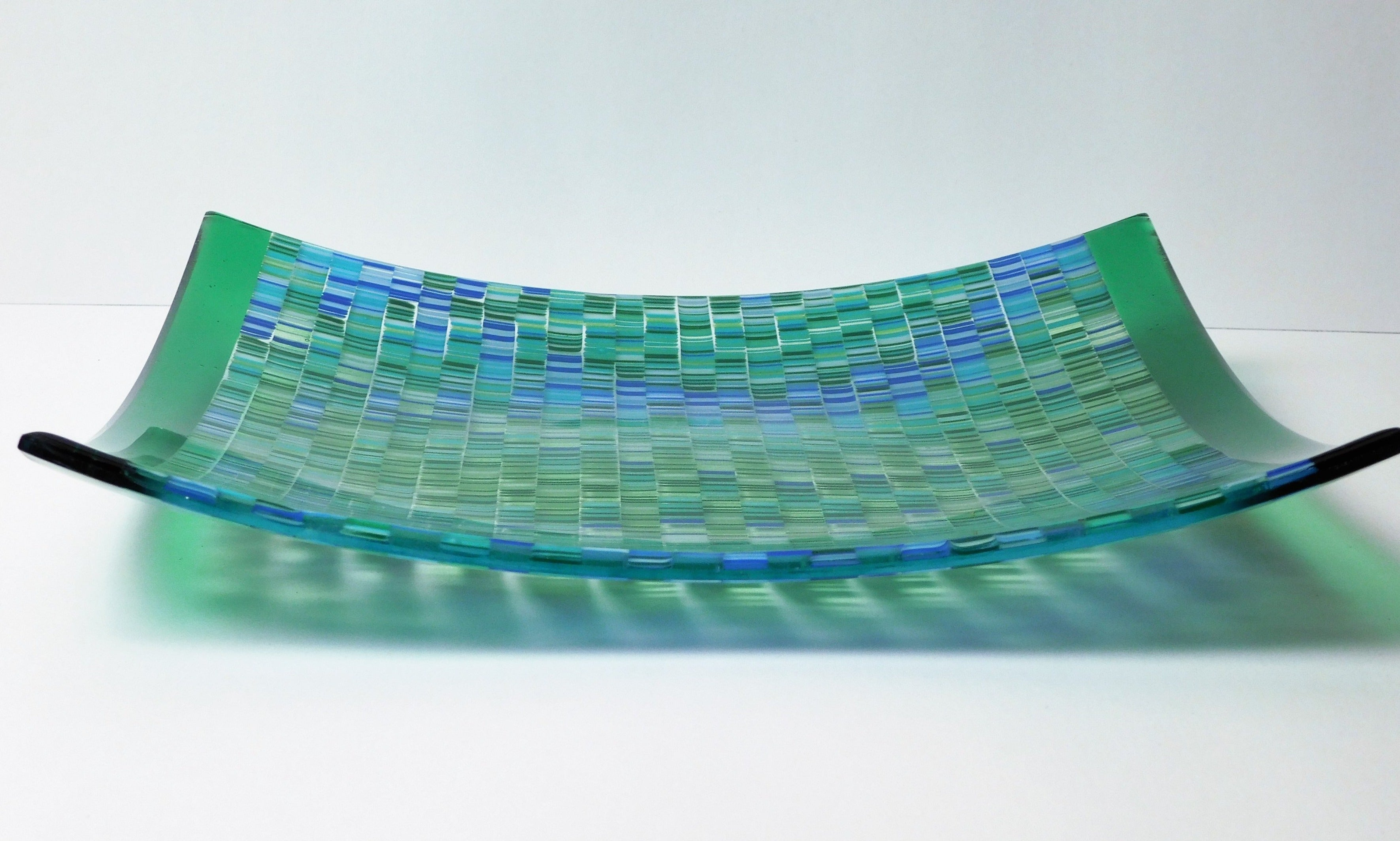 Refreshing Springs Square Fused Glass Plate The Mint Greene