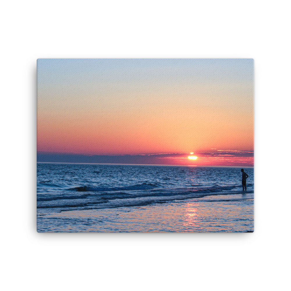 canvas wall art beach sunset