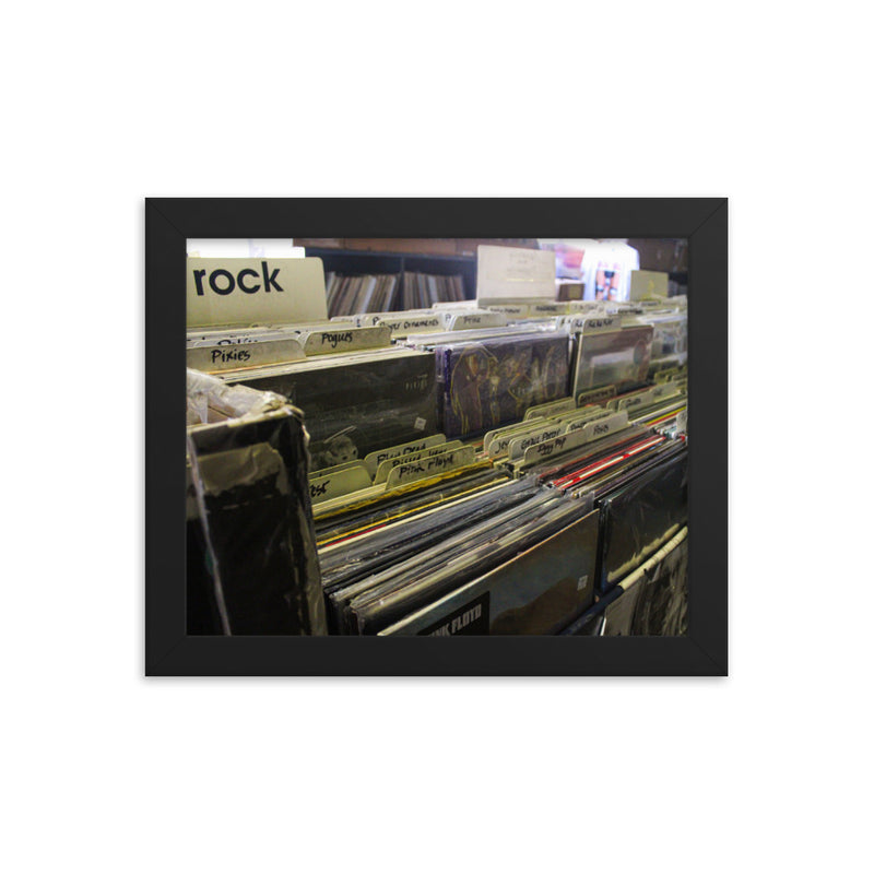 Record: rock framed photo