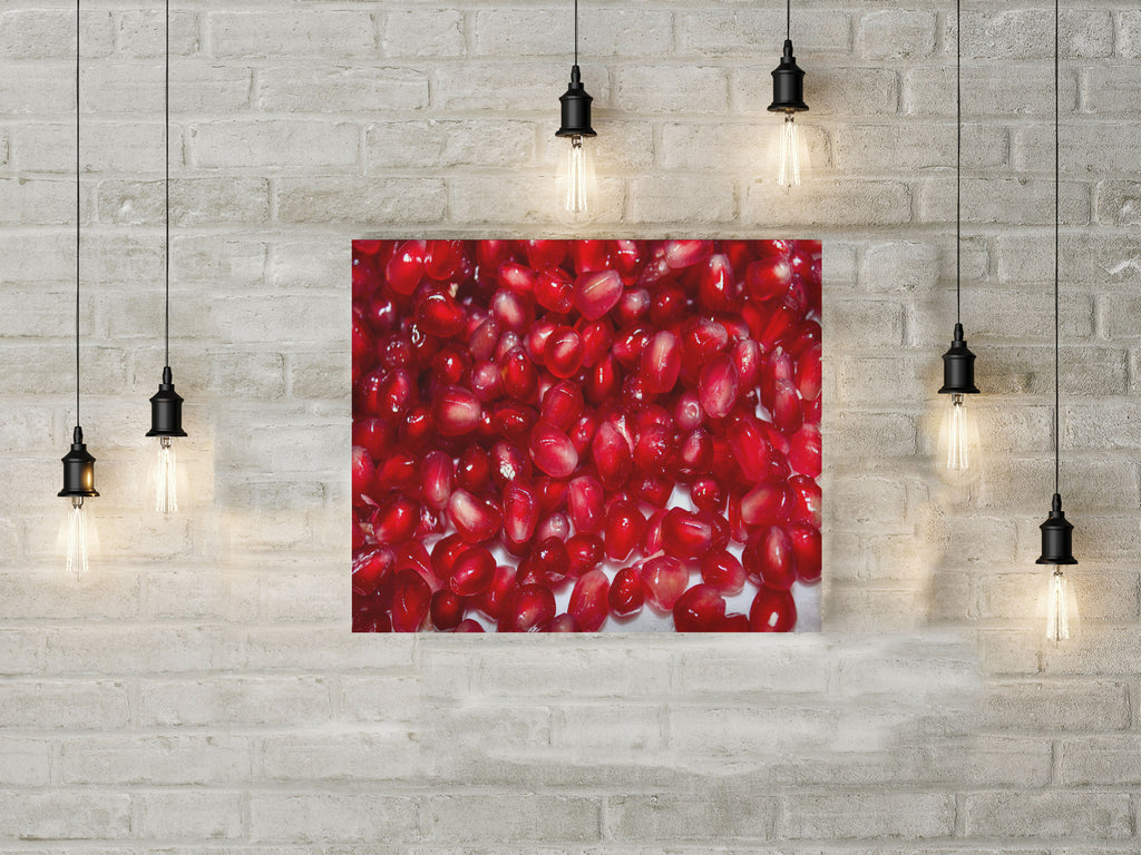 Pomegranate on Canvas wall art wall decor red photography