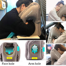 Load image into Gallery viewer, Inflatable Airplane Travel Neck Support Pillow for Head Rest