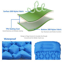 Load image into Gallery viewer, Outdoor Inflatable Sleeping Pad