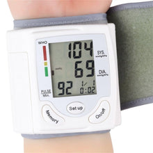 Load image into Gallery viewer, Portable Wrist Blood Pressure Machine BP Cuff Monitor LCD Display