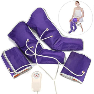 Purple Electronic Leg Compression Pump Foot Massager Stockings Sleeves Device - Morealis