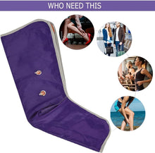 Load image into Gallery viewer, Purple Electronic Leg Compression Pump Foot Massager Stockings Sleeves Device