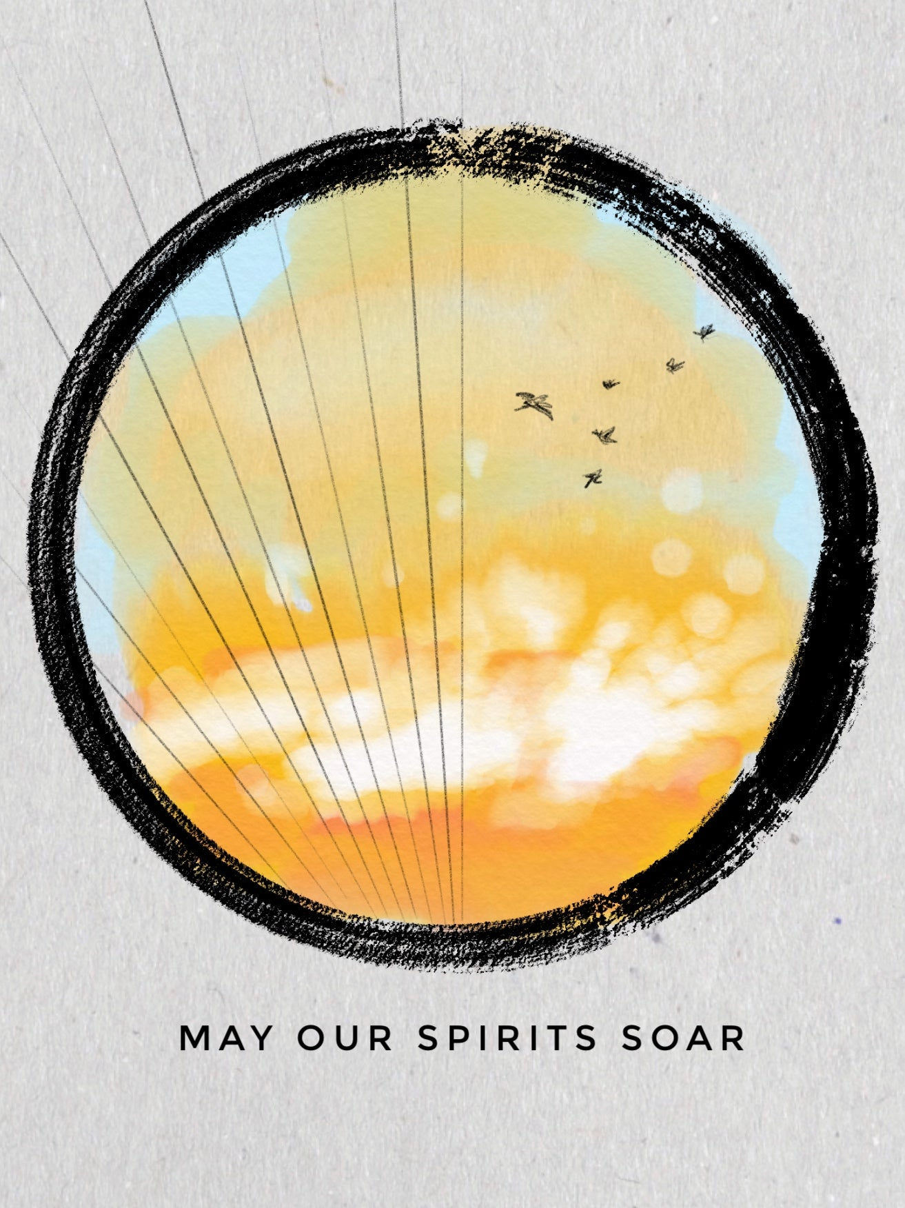 """May our Spirits Soar"" digital sketch by Erica Bapst"