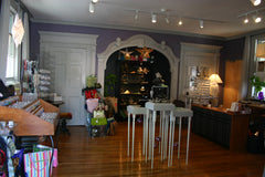 Adorn Jewelry interior with custom case in archway at Coy St Canandaigua NY