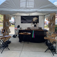 Adorn Jewelry, Erica Bapst booth at Canandaigua Art and Music Fest, jewelry category winner