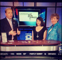 Erica Bapst from Adorn Jewelry and Denise Chaapel from Sweet Expressions on Rochester channel 8 news
