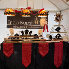 Adorn Jewelry, Erica Bapst booth at Canandaigua Christkindl Market, jewelry category winner
