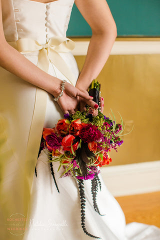 Classic Cubic Zirconia Bracelet from Adorn Jewelry and Accessories, Photo: Natalie Sinisgalli Photography, Flowers: Buds & Blooms 716