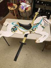 carousel horse after being cut out