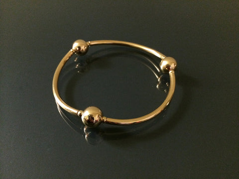 gold ball stretch bracelet