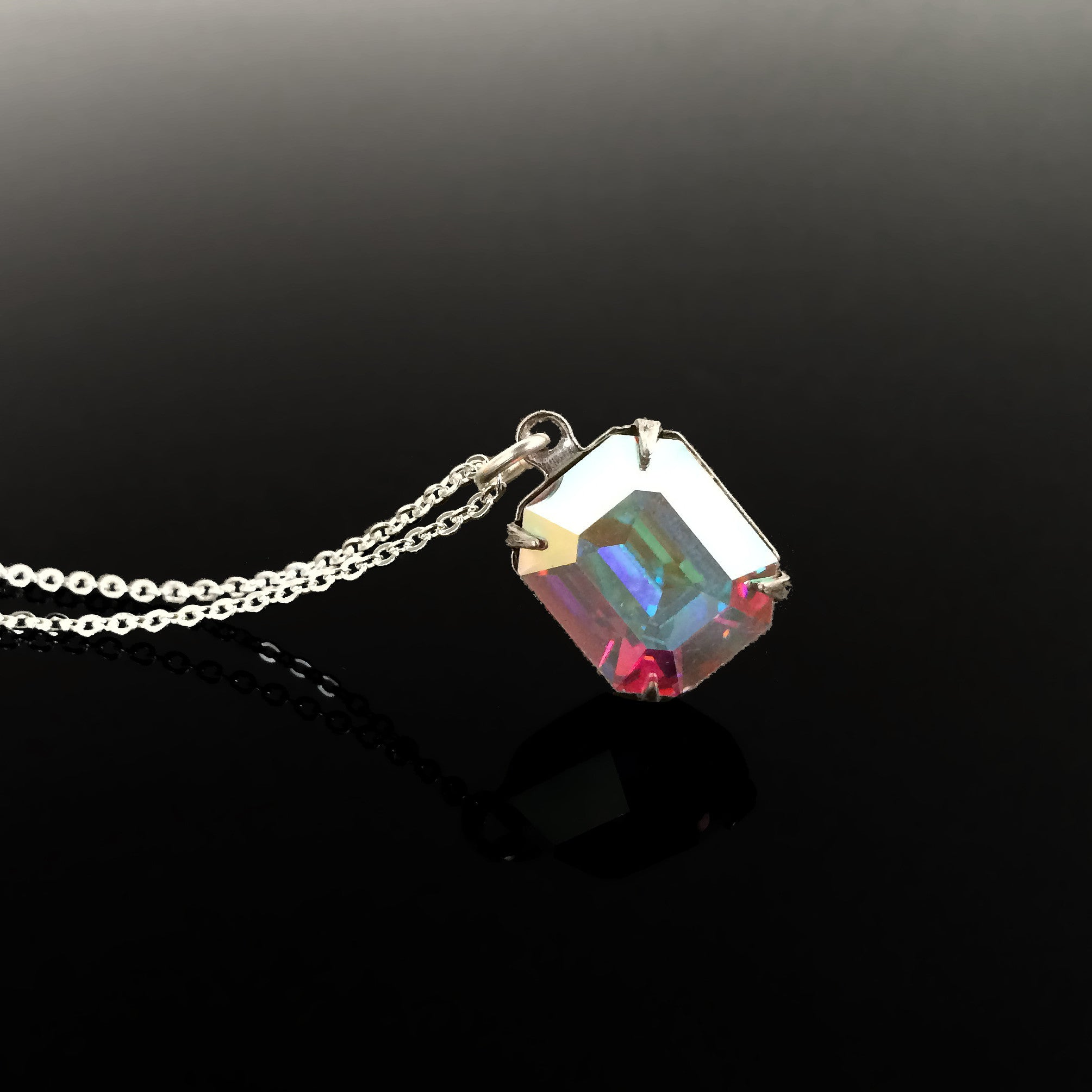 Clear Crystal Drop Necklace