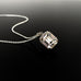 Emerald Ice pendent necklace crystal clear emerald cut Swarovski set in silver