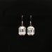 clear emerald cut rhinestone earrings on gold