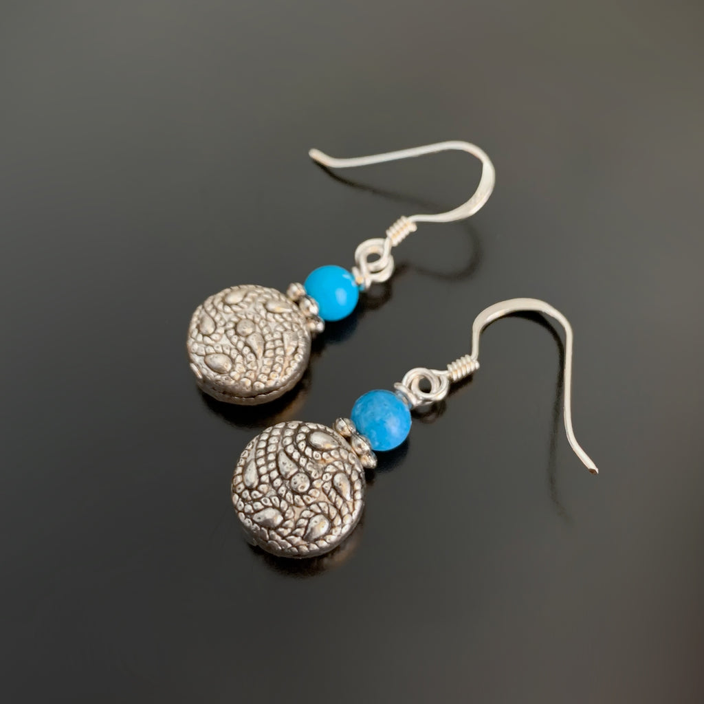 Paisley Earrings with Turquoise